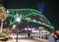 Sydney Bridge laser light show
