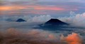 Triple Mountain Peaks in Java, Indonesia