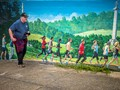 Walking with Mural Painting