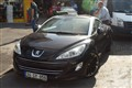 parked Peugeot RCZ captured in the old city of Istanbul