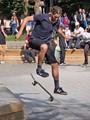 Skater in Boston; Copley Square