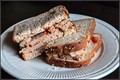 meatloaf sandwich on whole wheat bread