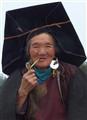 woman and pipe in China