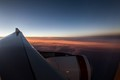 Evening sets across Australia out the window of a 737.