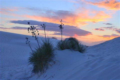 Sunet in White Sands National Monument