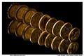 Mirror Reflection Euro Coins.