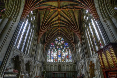 Exeter Cathedral - Side Altar LWA52 Tone Map