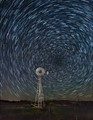 Windmill and Star Trails