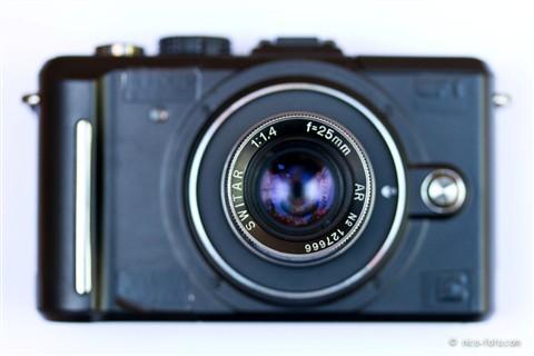 Stealth Panasonic GF1 and Kern Switar 25mm 1.4 AR