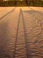 Shadowman on the beach
