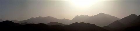 hajar mountains silhouette