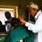 Old school hair dresser in India
