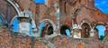 Bricks and Arcs, ruins of the Araca monastery, Vojvodina, Serbia