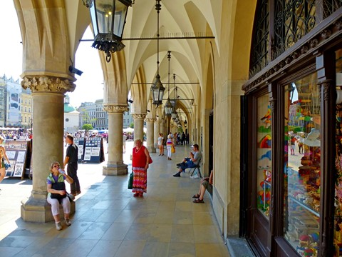 Promenade, Cloth Hall, Main Square, Krakow, Poland