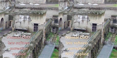 Effect of DxO lens sharpening