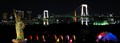 Statue of Liberty, Rainbow bridge and Tokyo tower.