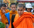 Unhappy monk in Bangkok