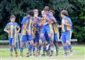 Team celebrating goal