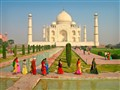 Colorful Saris and the Taj Mahal