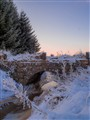 Forgotten stone bridge at -22C