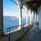 A peaceful january morning: Shot from Santa Caterina del Sasso hermitage. Lake Maggiore, Italy.