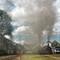 Four steam locos preparing for parallel departure from Bogota R1005415 Bogota Turistren
