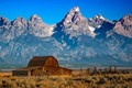 classic mormon row barn in jackson wy