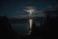 Moon rising over Georgian Bay