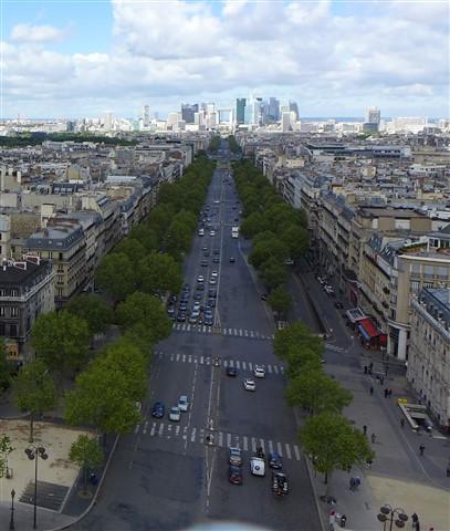 La Défense from Arc de Triomphe