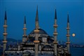 Supermoon over Blue Mosque