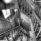 Staircase Katmandu Guesthouse B&W