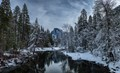 Merced River in the Winter-