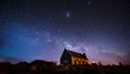 Milky Way above Church of the Good Shepherd