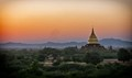 First lights in Bagan