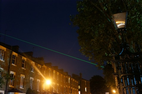 The Prime Meridian at Night