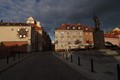 Dramatic sky in Warsaw before rain