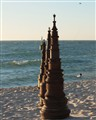 At the Beach is a Series of Pylons