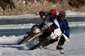 Ice Racing on a Snowy Lake