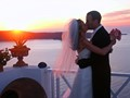 Sunset Wedding Kiss