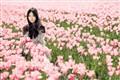 Pink Girl in Pink Field