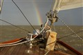 S/Y Tintel with rainbow