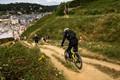 Mountain Bikers, Etretat, France