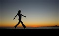 Walk in silhouette: Biloxi, Mississippi, USA