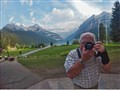 Self Portrait Lake Louise