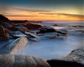 Dawn at the rocks