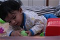 10 month playing with toys
