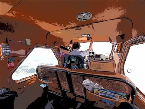DeHavilland Beaver Back Seat View Keyline