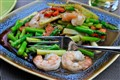 Thai prawns with green asparagus