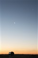Telescope, Jupiter, Venus and Moon at Sunset