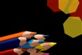 colored pencils_Black background